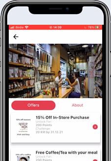 SpcieBox Loyalty Group Access with Bravera for walking and running points for rewards